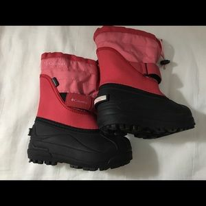 Columbia pink girls snow boots size 10 Winter